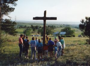 The original cross on the hillside (cir. 1991)