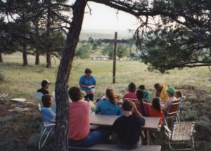 A gathering on the hillside in 1991