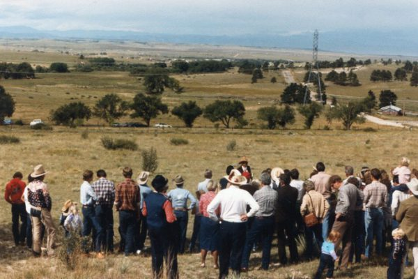 """Round-up Sunday"" surveying the new property in 1984"