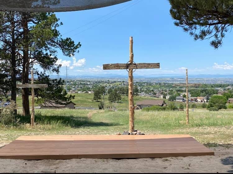 Hillside crosses